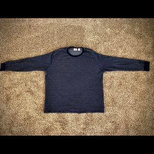 Levi's long sleeve thermal navy shirt